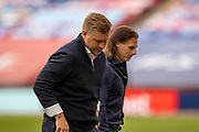 Oxford United Manager Karl Robinson and Wycombe Wanderers Manager Gareth Ainsworth during the EFL Sky Bet League 1 Play Off Final match between Oxford United and Wycombe Wanderers at Wembley Stadium, London, England on 13 July 2020.