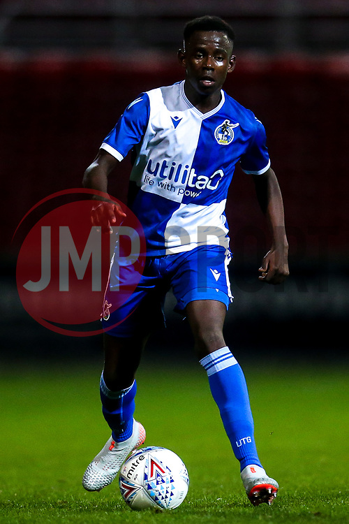 Henry Njonjo of Bristol Rovers - Mandatory by-line: Robbie Stephenson/JMP - 29/10/2019 - FOOTBALL - County Ground - Swindon, England - Swindon Town v Bristol Rovers - FA Youth Cup Round One
