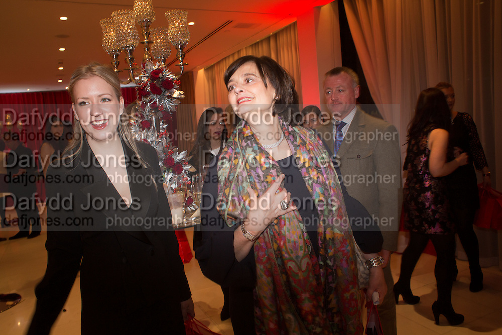 CHERIE BLAIR;  Pre -drinks at the St. Martin's Lane Hotel before a performance of the English National Ballet's Nutcracker: London Coliseum.12 December 2013
