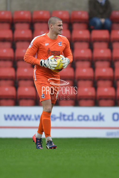 Scunthorpe United goalkeeper Joe Anyon during the Sky Bet League 1 match between Swindon Town and Scunthorpe United at the County Ground, Swindon, England on 14 November 2015. Photo by Mark Davies.