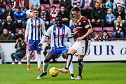 Hearts FC Midfielder Jamie Walker on the attack during the Ladbrokes Scottish Premiership match between Heart of Midlothian and Kilmarnock at Tynecastle Stadium, Gorgie, Scotland on 3 October 2015. Photo by Craig McAllister.