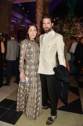 TALLULAH HARLECH and JACK GUINNESS  at a VIP preview of the V&A's new exhibition 'The Glamour of Italian Fashion' - a comprehensive look at Italian Fashion from 1945-2014 held at The Victoria & Albert Museum, London on 2nd April 2014.