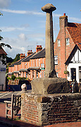 Market cross in the village centre, Alfriston, East Sussex, England