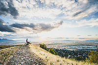 Sasha Yakovleff takes it in from Sunset Point on the Wild Rose Trail, North Salt Lake, Utah.