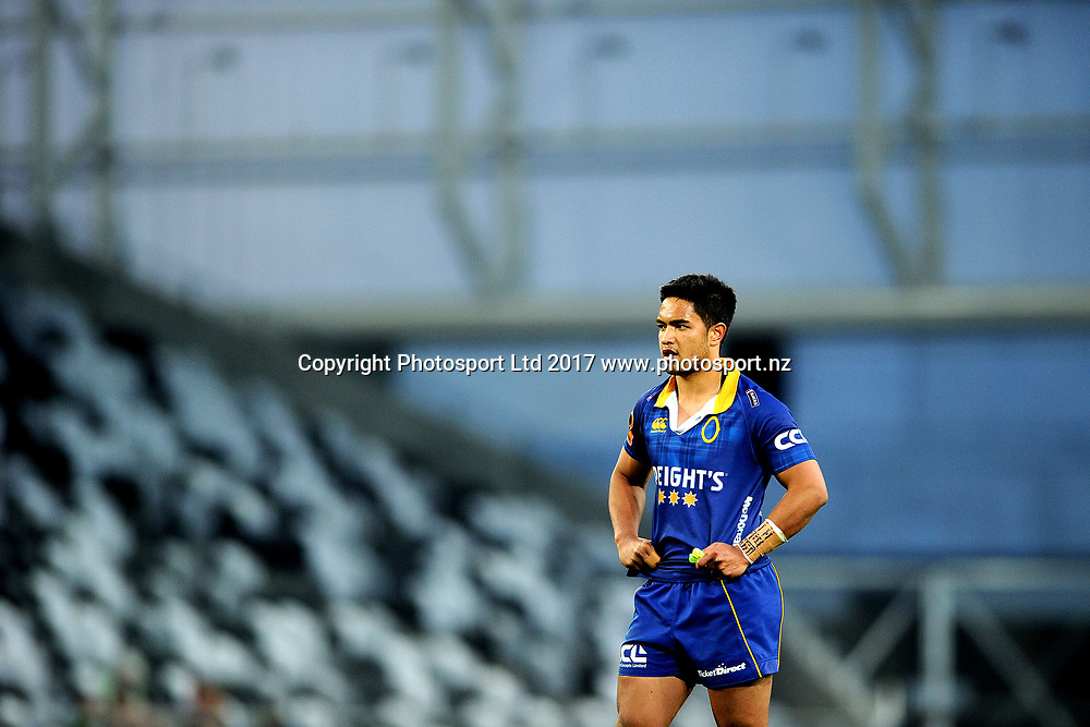 Josh Ioane of Otago. Otago v Tasman. Mitre 10 Cup Championship Rugby Union. Forsyth Barr Stadium, Dunedin, New Zealand. 16 September 2017. Copyright Image: Joe Allison / www.photosport.nz