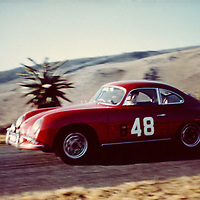 #48 Porsche 356 A 1600 coupé 1956-1959, Krugersdorp Hillclimb, Johannesburg, South Africa