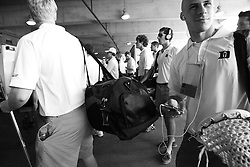 26 May 2007: Duke Blue Devils wait for a team to clear the concourse so they can enter the stadium from the loading dock before the NCAA semifinals to take on the Cornell Big Red at M&T Bank Stadium in Baltimore, MD.