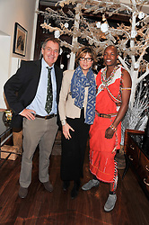 Left to right, IAN CRAIG, KATE SILVERTON and KIP OLENTERE at the Lewa Wildlife Conservancy debate held at Patrick Mavros, 104-106 Fulham Road, London on 21st November 2012.