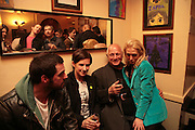 Matthew Buckham, Rachel Howard, Steven Berkoff and Tanya Wade. Matthew buckham  painting exhibition. Maison Bertaux. Soho. London. 28 March 2007.  -DO NOT ARCHIVE-© Copyright Photograph by Dafydd Jones. 248 Clapham Rd. London SW9 0PZ. Tel 0207 820 0771. www.dafjones.com.
