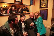 Matthew Buckham, Rachel Howard, Steven Berkoff and Tanya Wade. Matthew buckham  painting exhibition. Maison Bertaux. Soho. London. 28 March 2007.  -DO NOT ARCHIVE-© Copyright Photograph by Dafydd Jones. 248 Clapham Rd. London SW9 0PZ. Tel 0207 820 0771. www.dafjones.com.