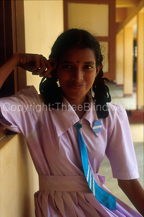 School girl in Jaffna.