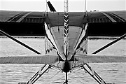 Seaplane on Lake Spenard Black and White