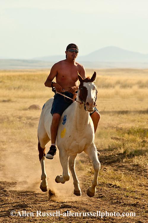 Fort Belknap Indian Reservation, Milk River Memorial Horse Races, Painted Horse Relay