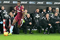 Football - 2018 / 2019 Championship - Swansea City vs Aston Villa<br /> … at the Liberty Stadium.<br /> <br /> Tammy Abraham of Aston Villa on the attack in front of his former club's bench <br /> <br /> Credit: COLORSPORT/Winston Bynorth