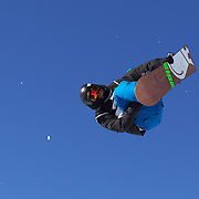 Benjamin Farrow, USA,  in action during the Men's Snowboard Slopestyle competition at Snow Park, New Zealand during the Winter Games. Wanaka, New Zealand, 21th August 2011. Photo Tim Clayton