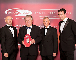 SuperValu finalist in the Edward Dillon/Santa Rita Estates SuperValu Off Licence of the Year was SuperValu, Rock Street, Tralee, Co. Kerry. Pictured from left to right are Donagh McClafferty, Musgraves, Tomas Garvey from SuperValu Tralee, Tony Reade, Edward Dillon and Tom Lethaby, Santa Rita Estates