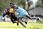 Action from Imalu Tigers v Tuyu Buffalo's Tiwi Islands Aussie Rules Football Grand Final on Bathurst Island, north of Darwin in Northern Territory.