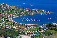 "SAINT RAPHAEL - FRANCE: Aerial View of Agay, ""Le Dramont"" and"" L'ile D'Or"" in Saint Raphael on the French Riviera on September 16, 2012 - Photo by Tony Barson / BarsonImages"