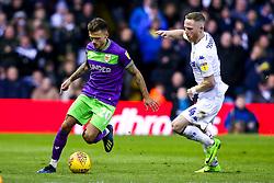 Jamie Paterson of Bristol City goes past Adam Forshaw of Leeds United - Mandatory by-line: Robbie Stephenson/JMP - 24/11/2018 - FOOTBALL - Elland Road - Leeds, England - Leeds United v Bristol City - Sky Bet Championship
