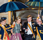 Koningspaar biedt Corps Diplomatique diner aan in het Paleis op de dam /// Royal Couple offers Corps Diplomatique dinner in the Palace on the dam<br /> <br /> Op de foto / On the photo:  Koning Willem-Alexander en Koningin Maxima