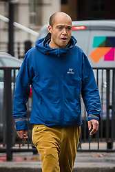 © Licensed to London News Pictures. 14/10/2019. London, UK. Brit award winner, Finley Quaye arrives at Westminster Magistrates Court in London to be sentenced for assault. The singer is accused of beating Robert Jenei outside 267 Old Brompton Road on 8th September. Photo credit: Vickie Flores/LNP