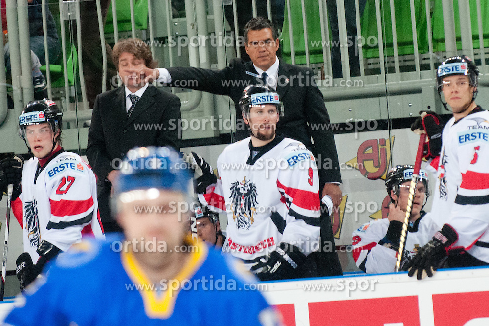 Manny Viveiros, head coach of Austria during ice-hockey match bewteen Ukraine and Austria at IIHF World Championship DIV. I Group A Slovenia 2012, on April 15, 2012 at SRC Stozice, Ljubljana, Slovenia. (Photo By Matic Klansek Velej / Sportida.com)