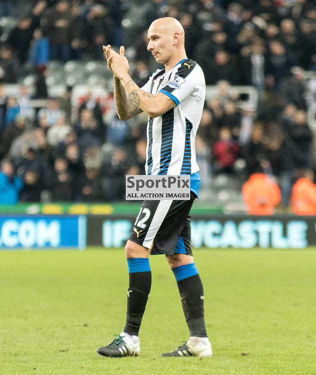Newcastle United's Jonjo Shelvey celebrates at the end of a victorious debut......(c) MARK INGRAM | SportPix.org.uk