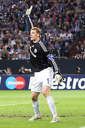 26.04.2011, Veltins Arena, Gelsenkirchen, GER, UEFA CL, Halbfinale Hinspiel, Schalke 04 (GER) vsManchester United (ENG), im Bild:  Manuel Neuer (Schalke #1)  // during the UEFA CL, Semi Final first leg, Schalke 04 (GER) vs Manchester United (ENG), at the Veltins Arena, Gelsenkirchen, 26/04/2011 EXPA Pictures © 2011, PhotoCredit: EXPA/ nph/  Mueller *** Local Caption ***       ****** out of GER / SWE / CRO  / BEL ******