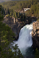 The Upper Yellowstone Falls drops 109 feet along the Yellowstone River in Yellowstone National Park