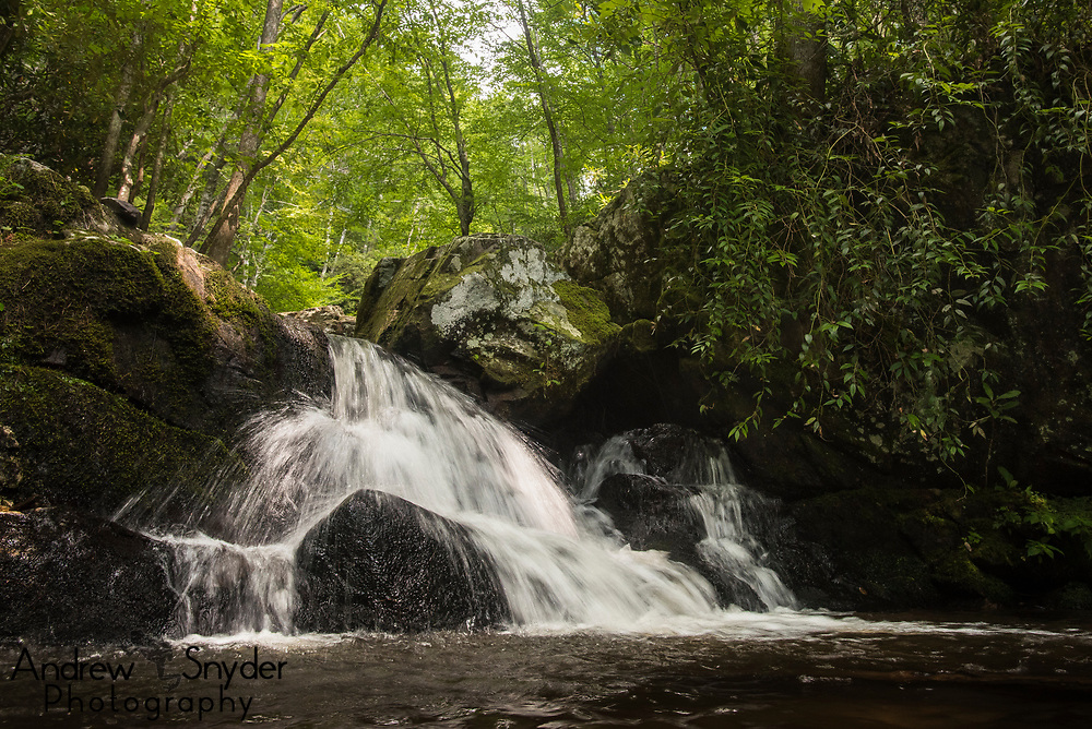 A small waterfall below Spruce Flats Falls - Great Smoky Mountains, Tennessee