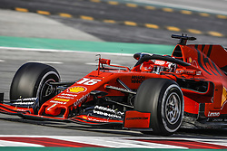 February 19, 2019 - Barcelona, Spain - 16 LECLERC Charles (mco), Scuderia Ferrari SF90, action during Formula 1 winter tests from February 18 to 21, 2019 at Barcelona, Spain - : FIA Formula One World Championship 2019, Test in Barcelona, (Credit Image: © Hoch Zwei via ZUMA Wire)