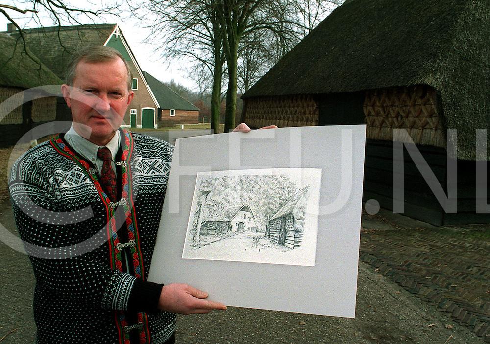 .rheeze johan goudbeek laat tekening op lokatie zien ....foto frank uijlenbroek©1997