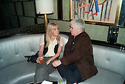 OLIVIA MCCALL; TIM BLANKS, GQ Style party, The Bassoon Bar , The Corinthia Hotel, Whitehall Place London. 15 March 2011.  -DO NOT ARCHIVE-© Copyright Photograph by Dafydd Jones. 248 Clapham Rd. London SW9 0PZ. Tel 0207 820 0771. www.dafjones.com.