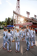 The Oregon Marching Band competes at McMahon Stadium in Alberta, Canada on July 9, 2011.