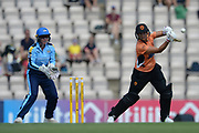 Suzie Bates of Southern Vipers batting during the Women's Cricket Super League match between Southern Vipers and Yorkshire Diamonds at the Ageas Bowl, Southampton, United Kingdom on 8 August 2018.