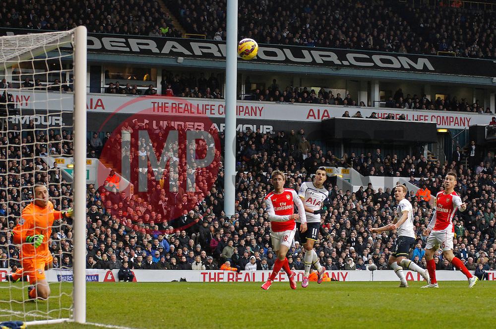Tottenham Hotspur's Harry Kane scores a goal - Photo mandatory by-line: Mitchell Gunn/JMP - Mobile: 07966 386802 - 07/02/2015 - SPORT - Football - London - White Hart Lane - Tottenham Hotspur v Arsenal - Barclays Premier League