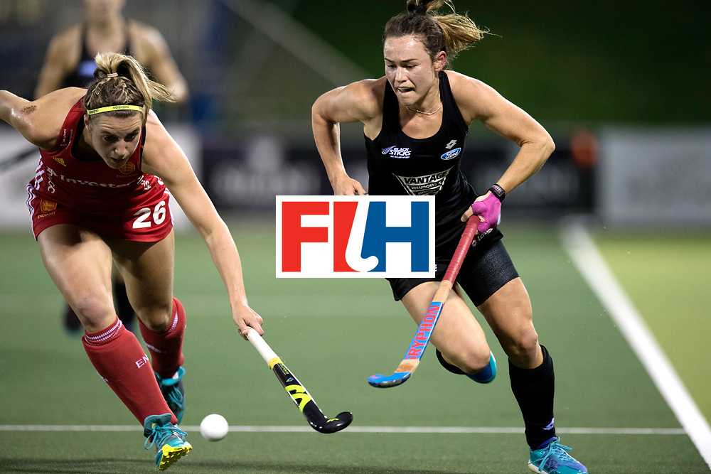 AUCKLAND - Sentinel Hockey World League final women<br /> Match id: 10310<br /> 20 ENG v NZL (Semi Final) 0-1<br /> New Zealand play the final<br /> Foto: Lily Owsley defending.<br /> WORLDSPORTPICS COPYRIGHT FRANK UIJLENBROEK