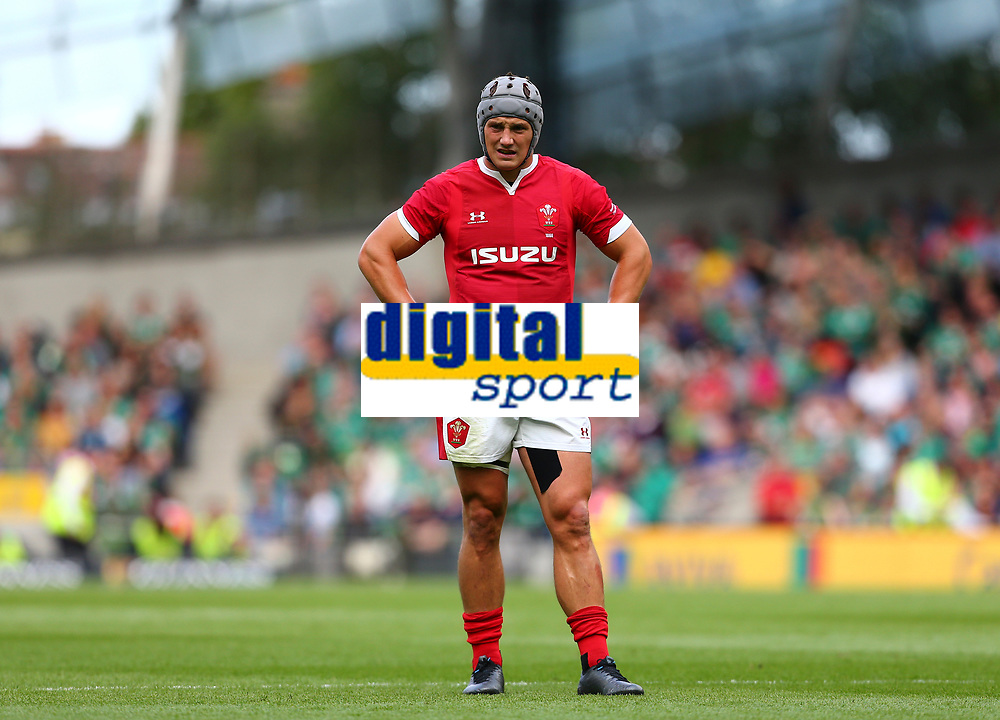 Rugby Union - 2019 pre-Rugby World Cup warm-up (Guinness Summer Series) - Ireland vs. Wales<br /> <br /> Jonathan Davies (Wales) at The Aviva Stadium.<br /> <br /> COLORSPORT/KEN SUTTON