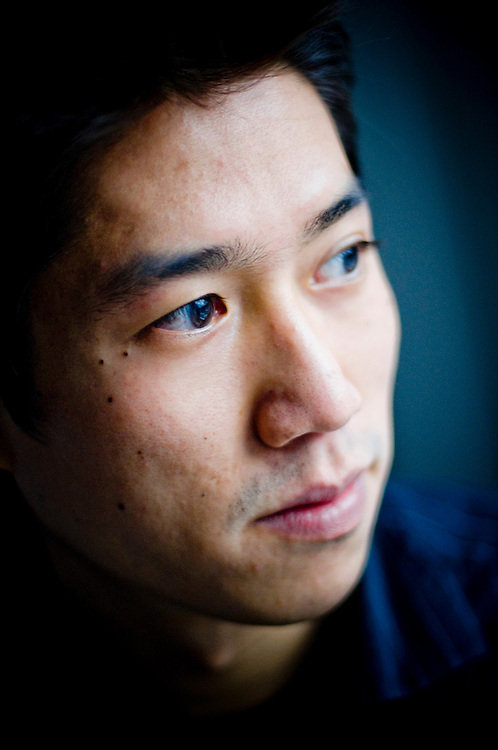Writer Tao Lin, photographed in his home, in Williamsburg Brooklyn