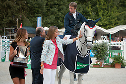 Van Der Vleuten Maikel (NED) - VDL Groep Sapphire<br /> and Infanta Elena de Borbón y Grecia<br /> Gran Premio Copa S.M. El Rey - Madrid 2011<br /> © Dirk Caremans