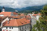 Look over the city of Kramnik. Slovenia. Eastern Europe.