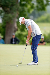 June 22, 2018 - Madison, WI, U.S. - MADISON, WI - JUNE 22: Steve Stricker putts on the ninth green during the American Family Insurance Championship Champions Tour golf tournament on June 22, 2018 at University Ridge Golf Course in Madison, WI. (Photo by Lawrence Iles/Icon Sportswire) (Credit Image: © Lawrence Iles/Icon SMI via ZUMA Press)