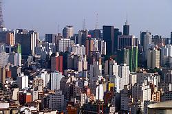 Sao Paulo, Sao Paulo, Brasil.Vista aerea de predios na regiao central./ Aerial View of the central area of Sao Paulo city. 000190.Foto Marcos Issa/Argosfoto