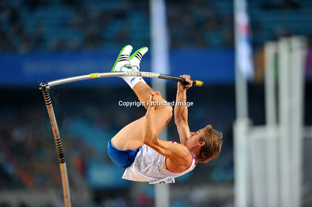 Dmitry Starodubtsev (RUS),AUGUST 29, 2011 - Athletics :The 13th IAAF World Championships in Athletics - Daegu 2011, Men's Pole Vault Final at the Daegu Stadium, Daegu, South Korea. (Photo by Jun Tsukida/AFLO SPORT) [0003]