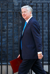 © Licensed to London News Pictures. 19/07/2016. London, UK. Defence Secretary MICHAEL FALLON attending the first cabinet meeting under Theresa May's leadership in Downing Street on Tuesday, 19 July 2016. Photo credit: Tolga Akmen/LNP