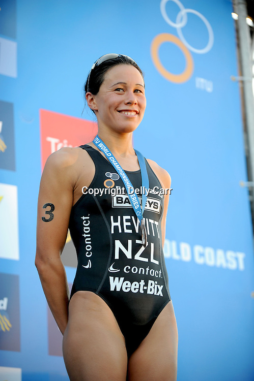 Andrea Hewitt, NZL, finishes third overall in the 2009 ITU World Championship Series, after an 8th place at the ITU Grand Final at the Gold Coast, Australia. 13 September 2009. Photo: Delly Carr