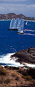 Ganesha and The Maltese Falcon racing in the St. Barth's Bucket Regatta.