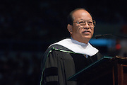 18276Undergraduate Commencement 2007...Thanu is being honored for nearly 20 years of leadership as president of Bangkok University, that city's top private university. Recently retired, he now serves as a member of his university's board of trustees. Thanu is internationally known for his leadership and work on developing international educational partnerships, and has maintained a 30-year association with Ohio University...As a member of the Thai senate, he has promoted education and culture, and he is active in numerous international education organizations, including one that oversees the educational quality and assessment of universities in Thailand. He will receive his honorary degree at the morning undergraduate ceremony on June 9.