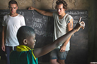 One Direction visit Queensland school in Agbogbloshie slum, Accra