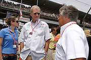 Stephanie Birkitt and David Letterman seen on the starting grid at the Indy 500. Photo by Michael Hickey